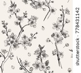 sakura. seamless pattern.... | Shutterstock .eps vector #778431142