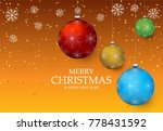 christmas light vector... | Shutterstock .eps vector #778431592