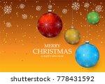 christmas light vector... | Shutterstock .eps vector #778431592