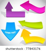 colorful vector sticker arrows... | Shutterstock .eps vector #77843176