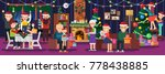 happy new year. holiday family... | Shutterstock .eps vector #778438885