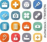 flat vector icon set   doctor... | Shutterstock .eps vector #778439296