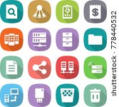flat vector icon set   search... | Shutterstock .eps vector #778440532