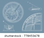 tools for astronomical research | Shutterstock .eps vector #778453678