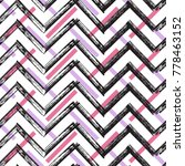 zigzag paint brush strokes... | Shutterstock .eps vector #778463152