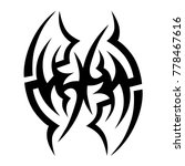 tattoo tribal vector design.... | Shutterstock .eps vector #778467616