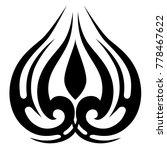 tattoo tribal vector design.... | Shutterstock .eps vector #778467622