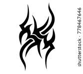 tattoo tribal vector design.... | Shutterstock .eps vector #778467646