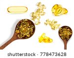 healthy vitamins  omega 3 fish...   Shutterstock . vector #778473628
