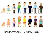 different age of the person.... | Shutterstock . vector #778476502