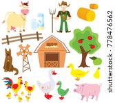 big set of cartoon characters... | Shutterstock . vector #778476562