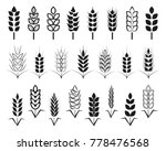 symbols. for logo design wheat. ... | Shutterstock . vector #778476568