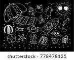 summer beach  sketch | Shutterstock .eps vector #778478125