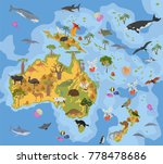 australia and oceania flora and ... | Shutterstock .eps vector #778478686