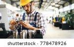 industrial factory employee... | Shutterstock . vector #778478926