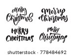 vector illustration  set of... | Shutterstock .eps vector #778484692