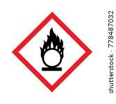 danger oxidizing warning sign | Shutterstock .eps vector #778487032