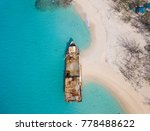 aerial view of shipwreck on the ...   Shutterstock . vector #778488622