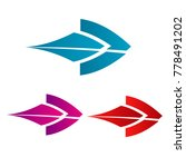blue purple and red next sign... | Shutterstock .eps vector #778491202