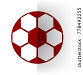 soccer ball sign. vector. bordo ... | Shutterstock .eps vector #778492255