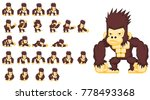 animated big ape game character | Shutterstock .eps vector #778493368