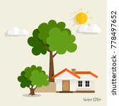 green eco city living concept.... | Shutterstock .eps vector #778497652