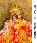 Small photo of Lord Ganesha, The ancient lord Ganesha statue or lord Ganesha image in public temple
