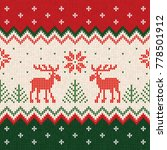 ugly sweater merry christmas... | Shutterstock . vector #778501912