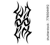 tattoo tribal vector design.... | Shutterstock .eps vector #778504492