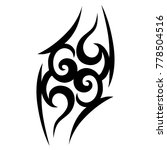 tattoo tribal vector design.... | Shutterstock .eps vector #778504516
