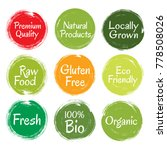 fresh  raw food  eco friendly ... | Shutterstock .eps vector #778508026