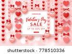 valentines day sale banner.... | Shutterstock .eps vector #778510336