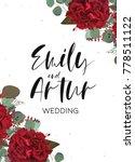 wedding invite  invitation ... | Shutterstock .eps vector #778511122