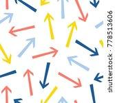 abstract arrow seamless pattern ... | Shutterstock . vector #778513606