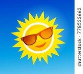 cheerful  smiling cartoon sun... | Shutterstock . vector #778523662