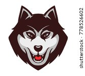 husky wolf dog mascot...   Shutterstock .eps vector #778526602