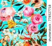 seamless floral pattern | Shutterstock . vector #778527718