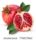 ripe pomegranate fruit and one... | Shutterstock . vector #778527862