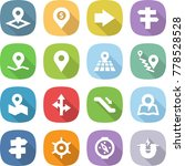 flat vector icon set   pointer... | Shutterstock .eps vector #778528528