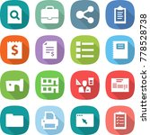 flat vector icon set   search... | Shutterstock .eps vector #778528738