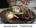 forest cranberries in a cup ... | Shutterstock . vector #778531246