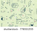 abstract minimalistic flat...   Shutterstock .eps vector #778531555