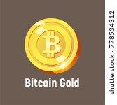 vector bitcoin gold logo ... | Shutterstock .eps vector #778534312