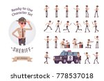 sheriff ready to use character...   Shutterstock .eps vector #778537018