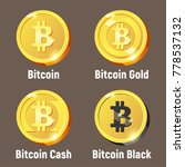 vector set of bitcoin logo... | Shutterstock .eps vector #778537132