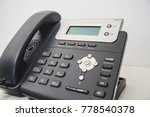 telephone at office keypad... | Shutterstock . vector #778540378