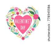 cute vintage valentine's day... | Shutterstock .eps vector #778545586