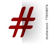 hashtag sign illustration.... | Shutterstock .eps vector #778548076