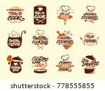cooking colour logos set.... | Shutterstock .eps vector #778555855
