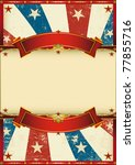 old patriotic vintage poster. A patriotic vintage poster for your advertising - stock photo
